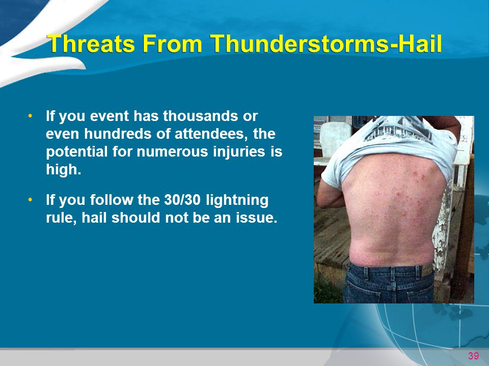 Threats From Thunderstorms-Hail