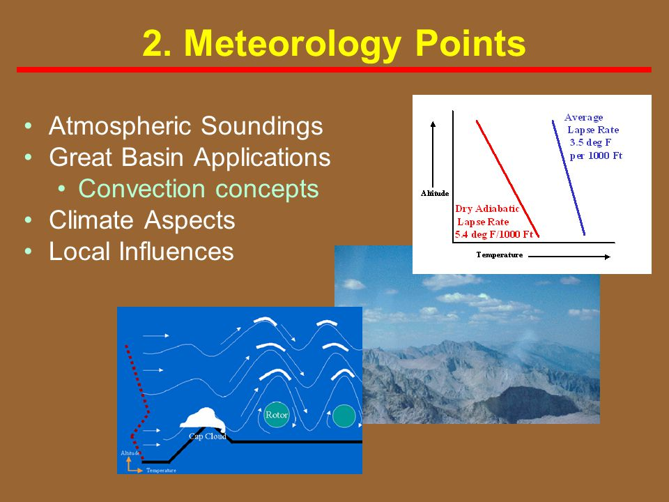 2. Meteorology Points Atmospheric Soundings Great Basin Applications