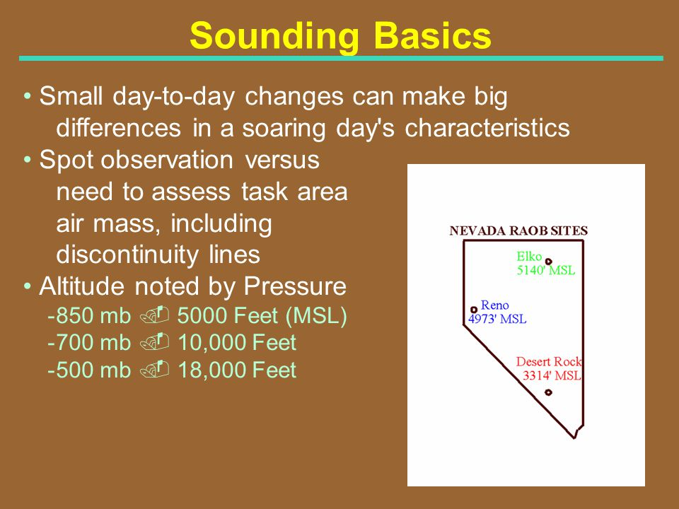 Sounding Basics Small day-to-day changes can make big