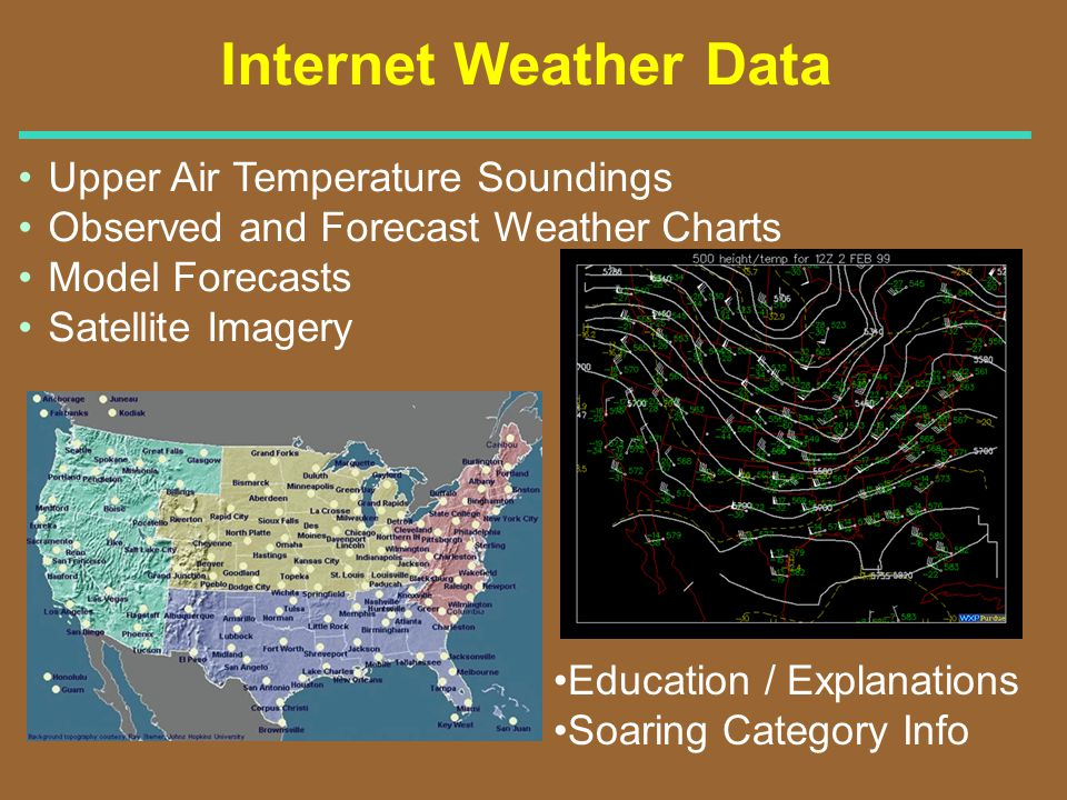 Internet Weather Data Upper Air Temperature Soundings