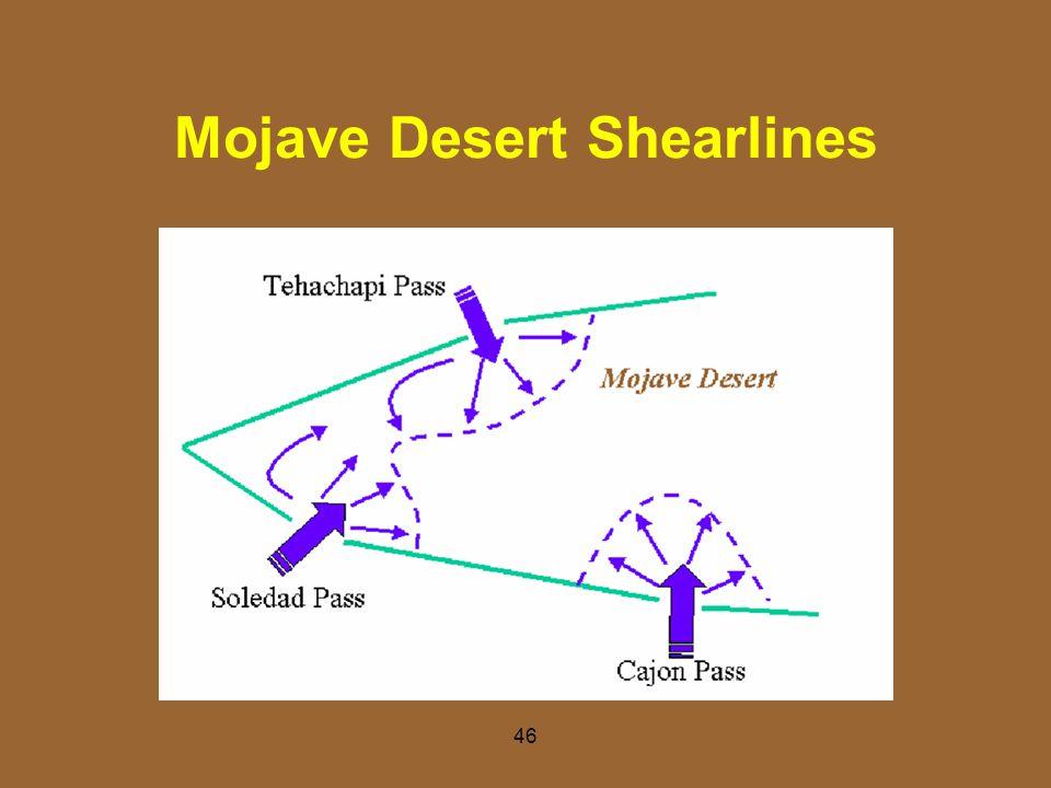 Mojave Desert Shearlines