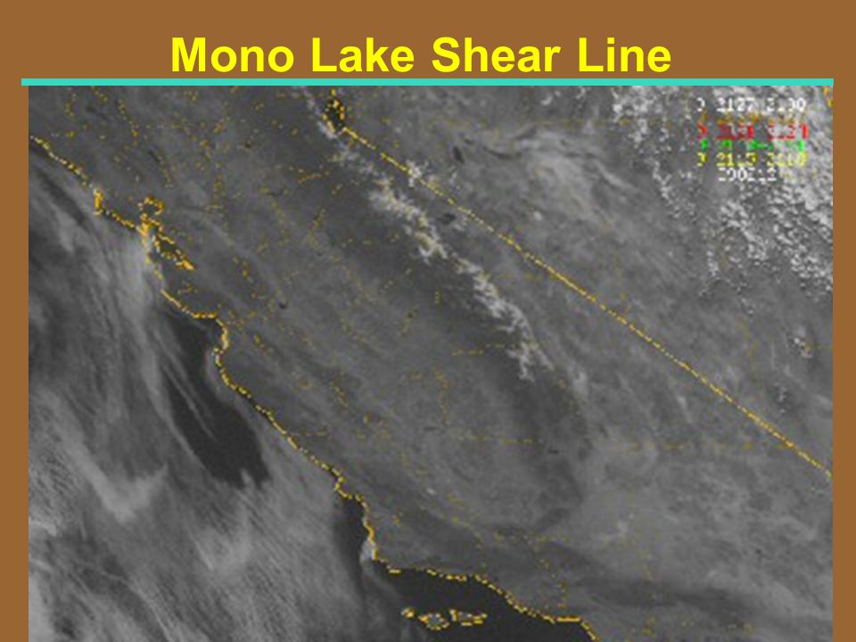 Mono Lake Shear Line Visible Satellite Image for 2130Z 6/13/99 (230 PM PDT)