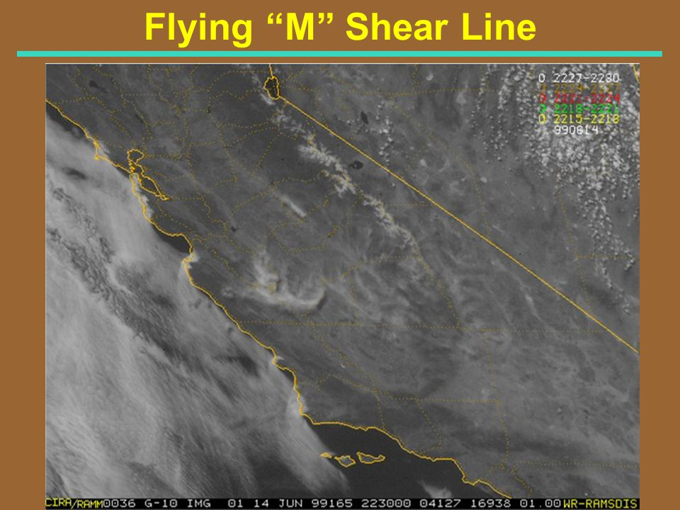 Flying M Shear Line Visible Satellite Image for 330 PM PDT 6/14/99 (2230Z)