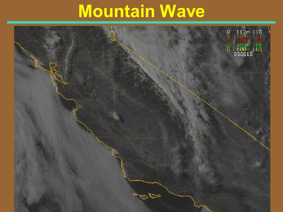 Mountain Wave Visible Satellite Image for 615 PM PDT 6/15/99 (0115Z 6/16/99)