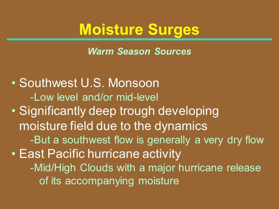 Moisture Surges Southwest U.S. Monsoon