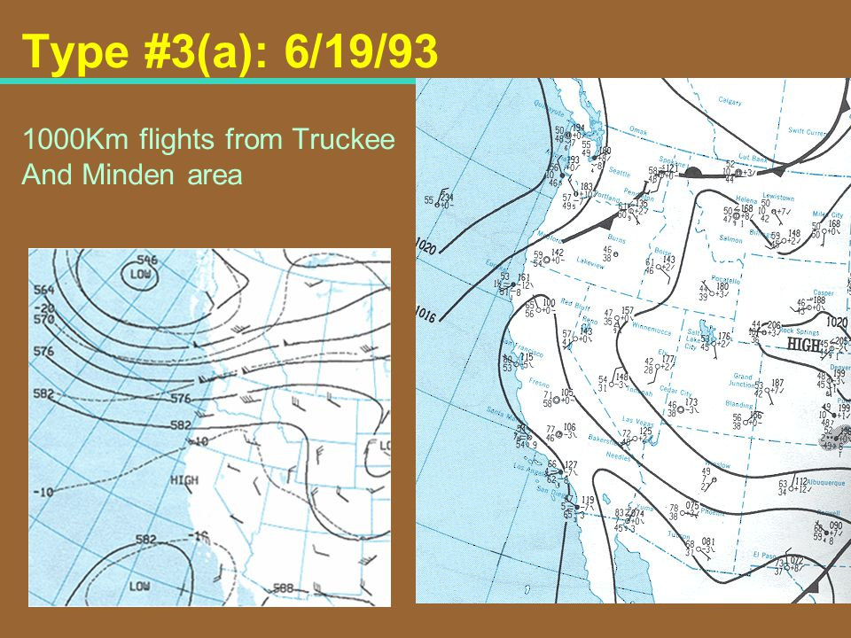 Type #3(a): 6/19/93 1000Km flights from Truckee And Minden area