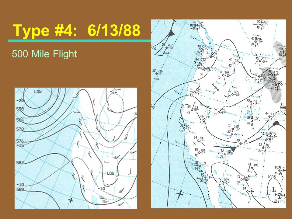 Type #4: 6/13/88 500 Mile Flight Map Type #4: June 13, 1988