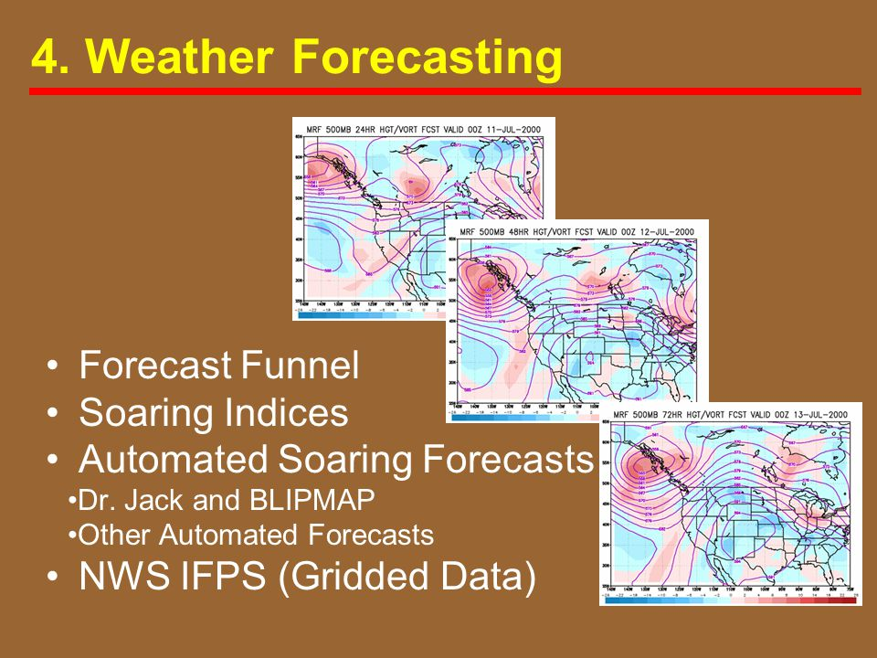 4. Weather Forecasting Forecast Funnel Soaring Indices