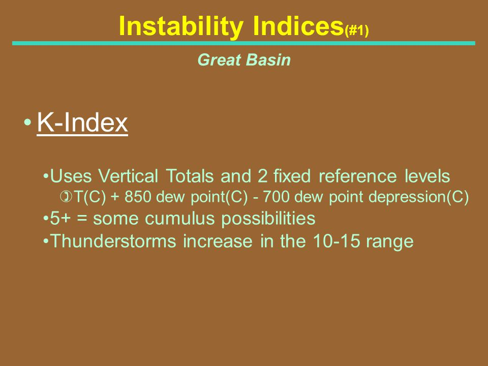Instability Indices(#1)