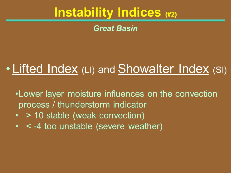 Instability Indices (#2)