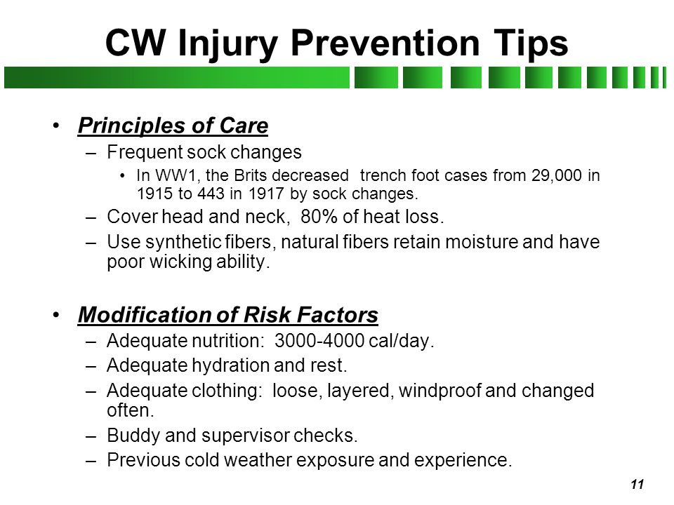 CW Injury Prevention Tips