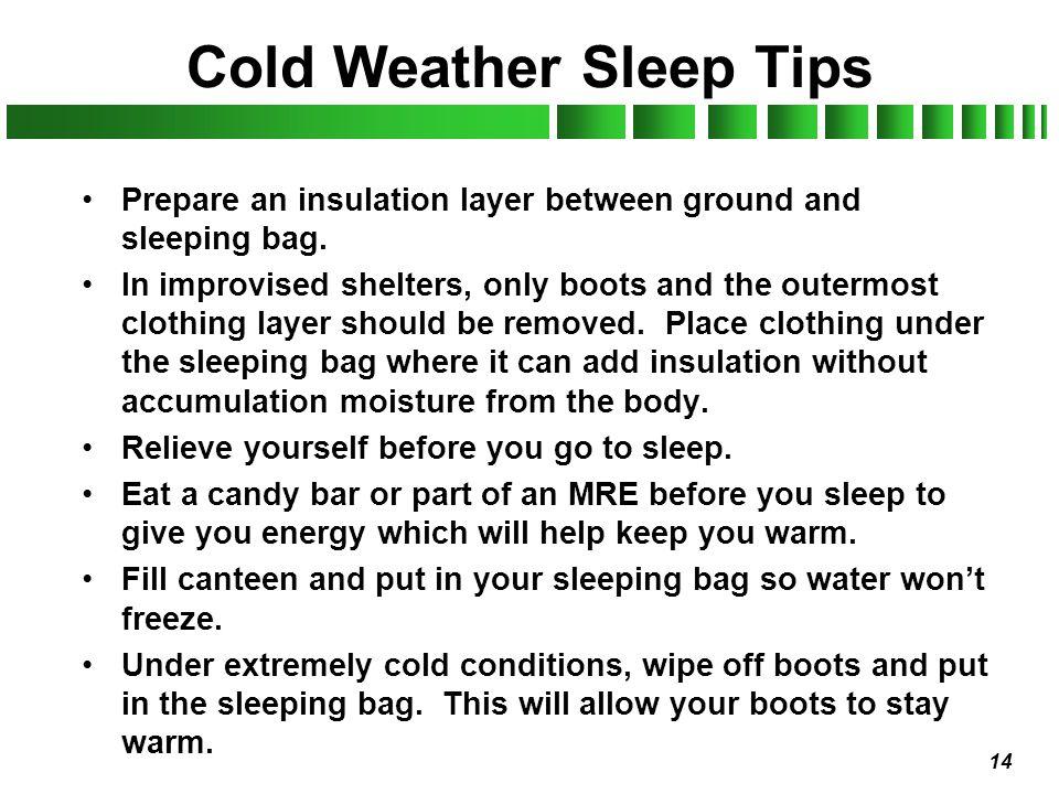 Cold Weather Sleep Tips