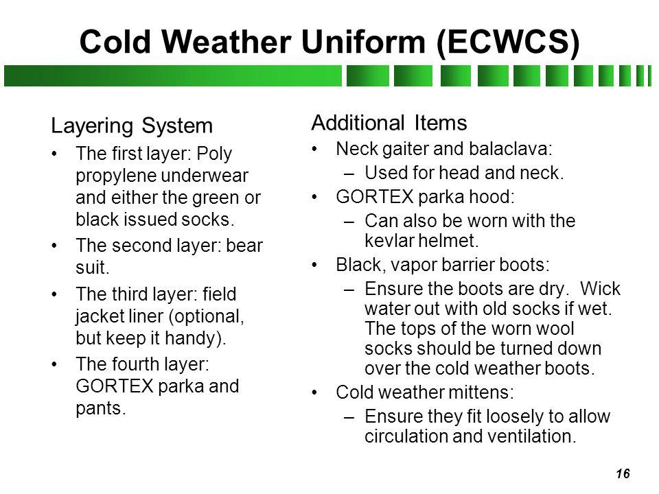 Cold Weather Uniform (ECWCS)
