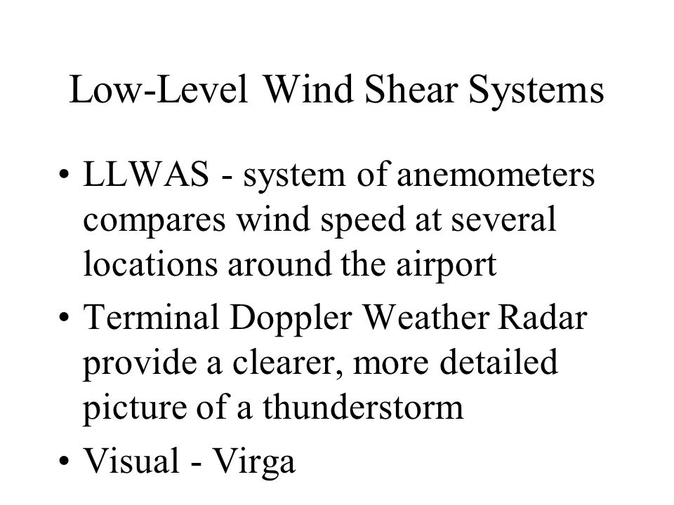 Low-Level Wind Shear Systems