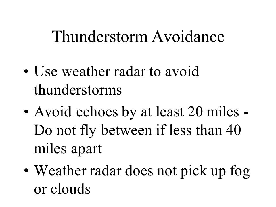Thunderstorm Avoidance