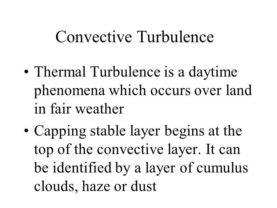 Convective Turbulence