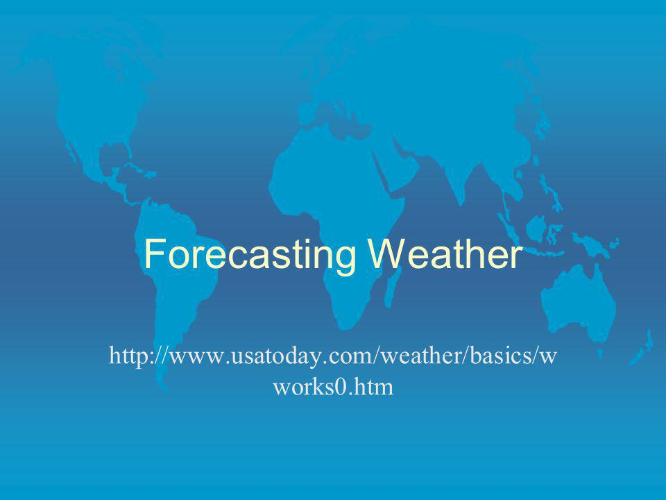 Forecasting Weather http://www.usatoday.com/weather/basics/wworks0.htm