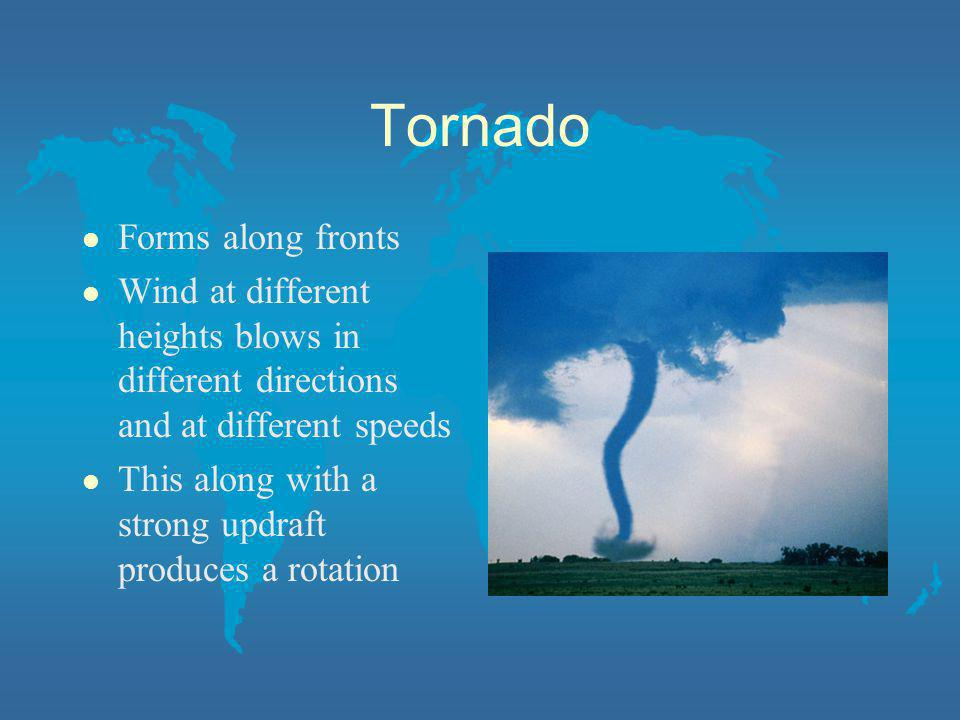 Tornado Forms along fronts