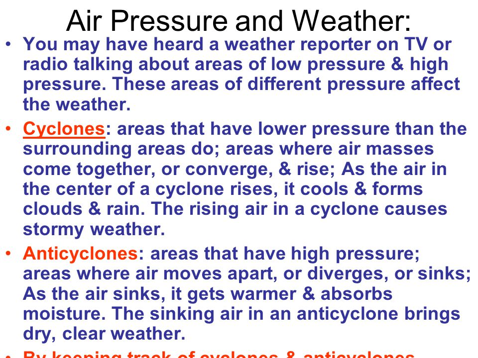 Air Pressure and Weather: