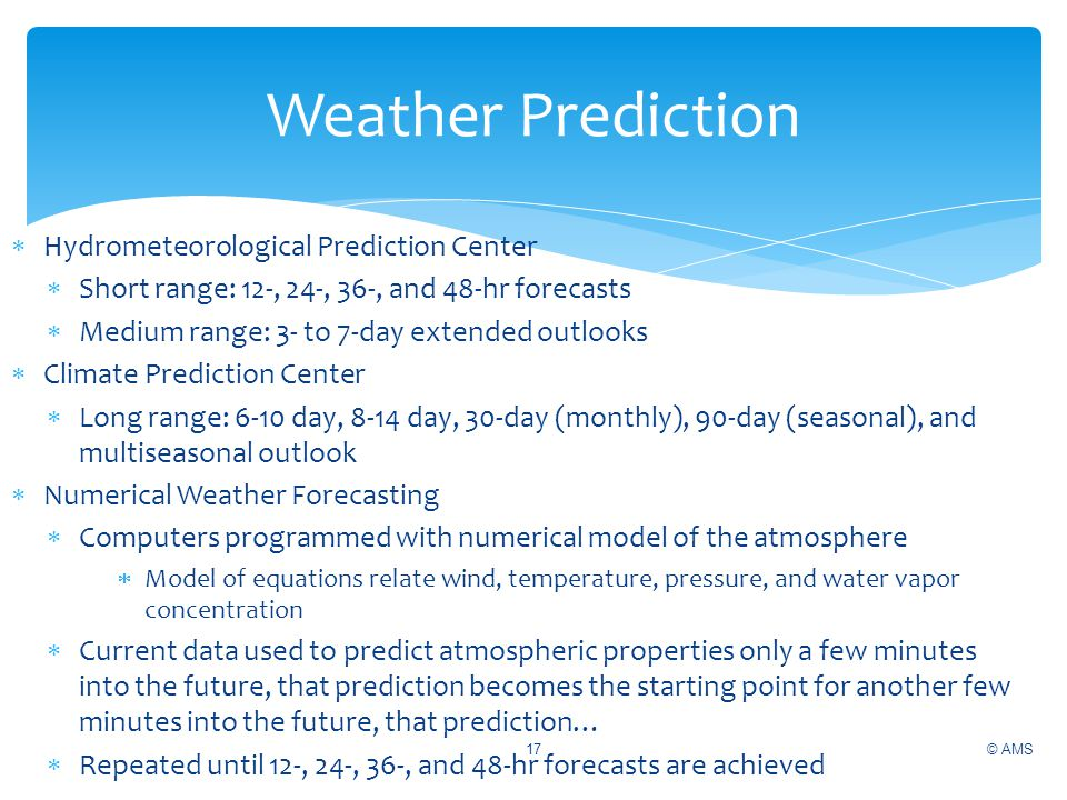 Weather Prediction Hydrometeorological Prediction Center