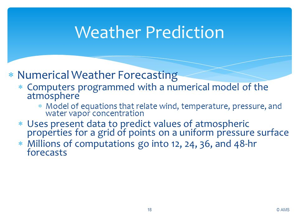 Weather Prediction Numerical Weather Forecasting
