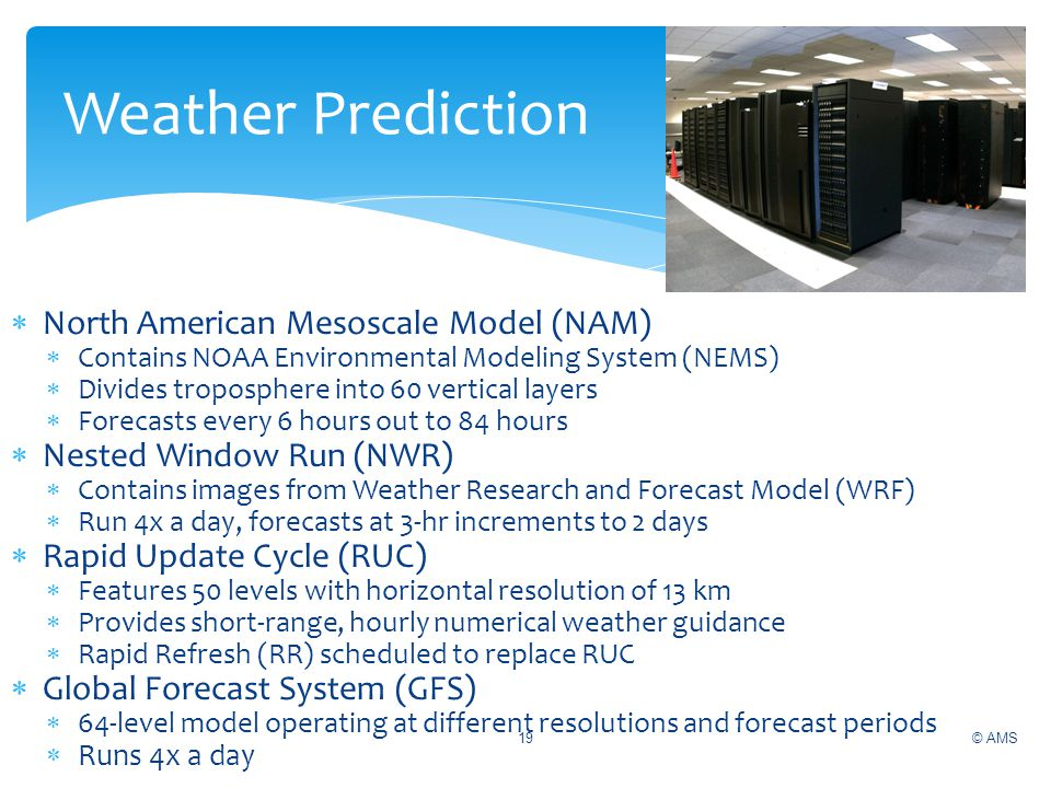 Weather Prediction North American Mesoscale Model (NAM)