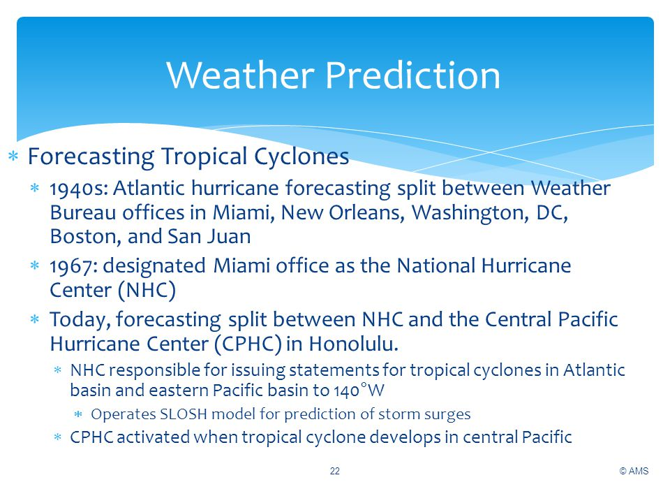 Weather Prediction Forecasting Tropical Cyclones