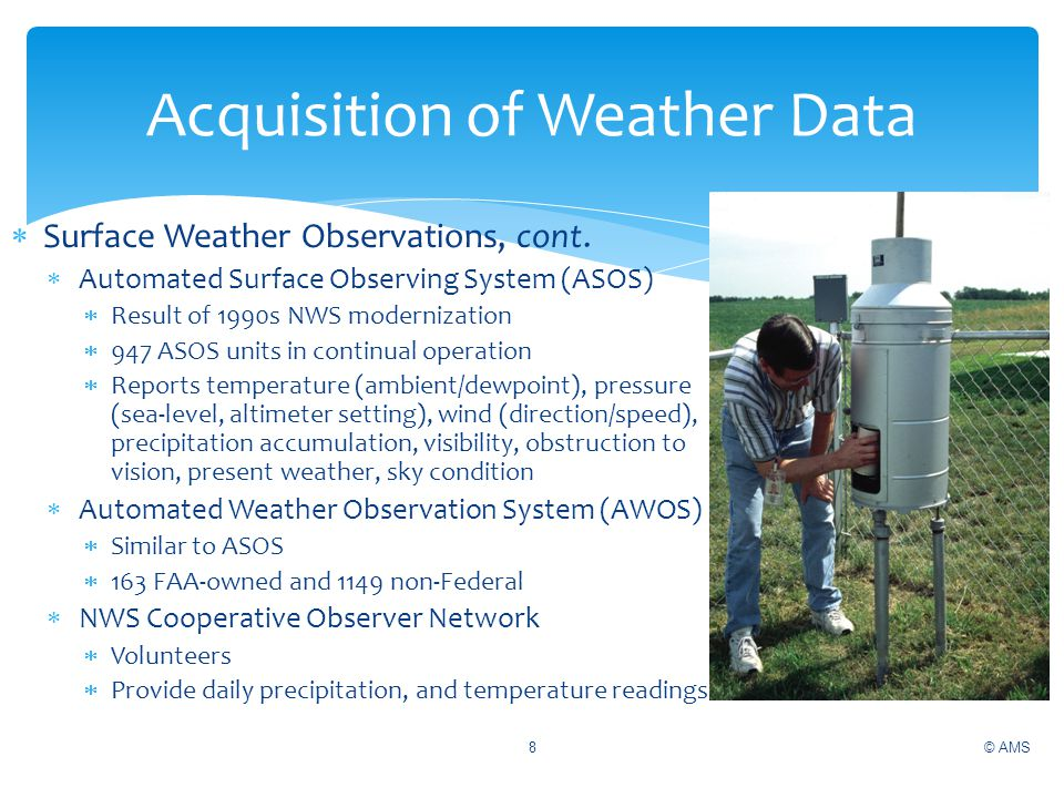 Acquisition of Weather Data