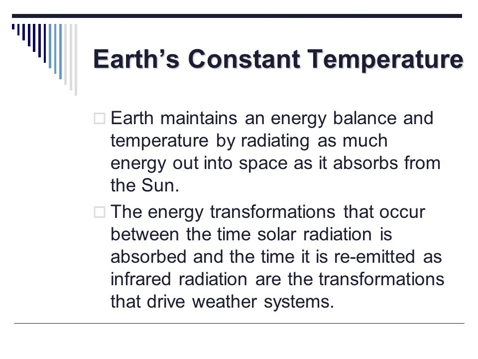Earth's Constant Temperature