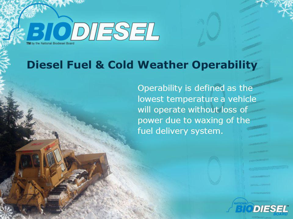Diesel Fuel & Cold Weather Operability