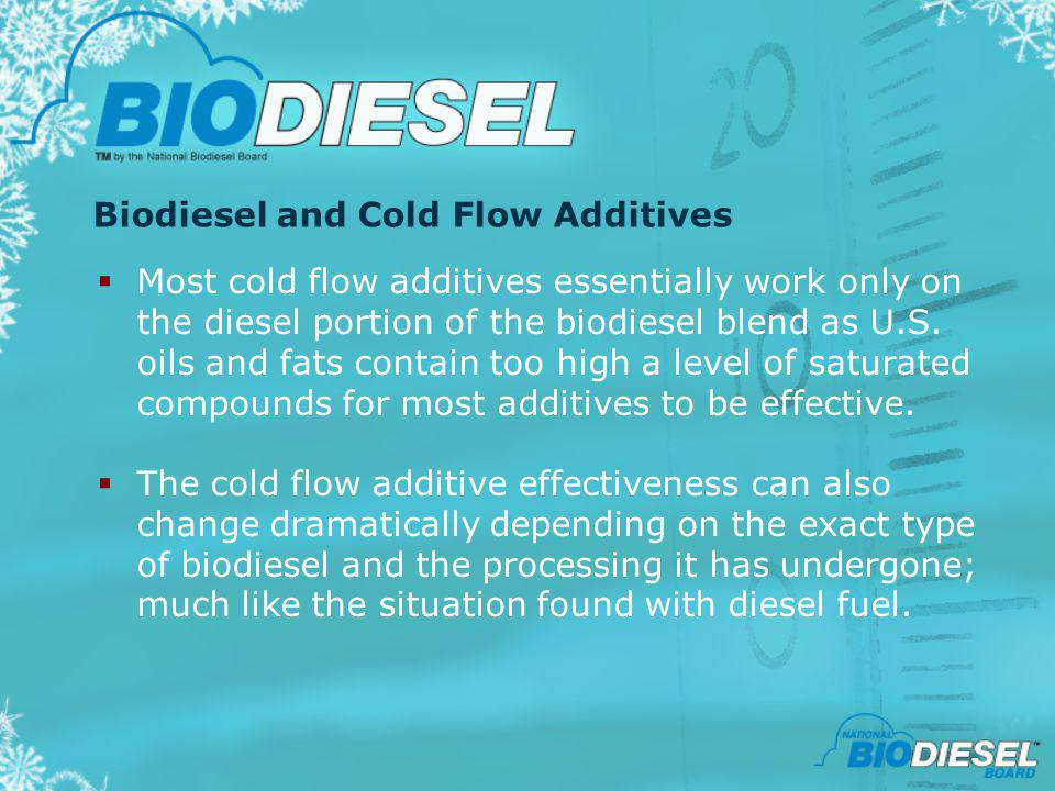 Biodiesel and Cold Flow Additives