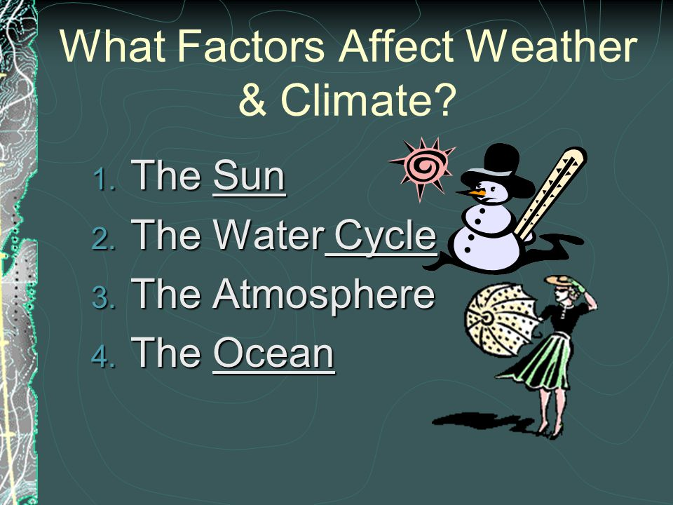 What Factors Affect Weather & Climate