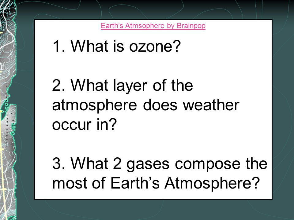 Earth's Atmsophere by Brainpop