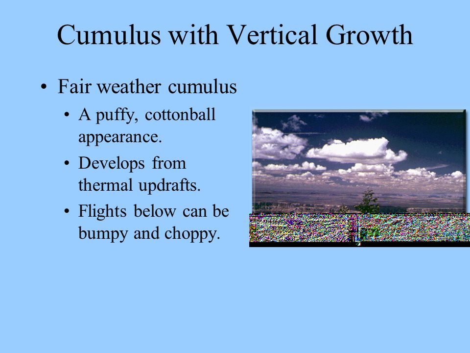 Cumulus with Vertical Growth