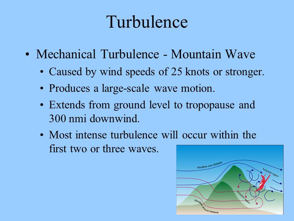 Turbulence Mechanical Turbulence - Mountain Wave