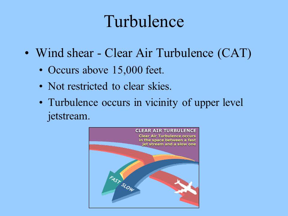 Turbulence Wind shear - Clear Air Turbulence (CAT)