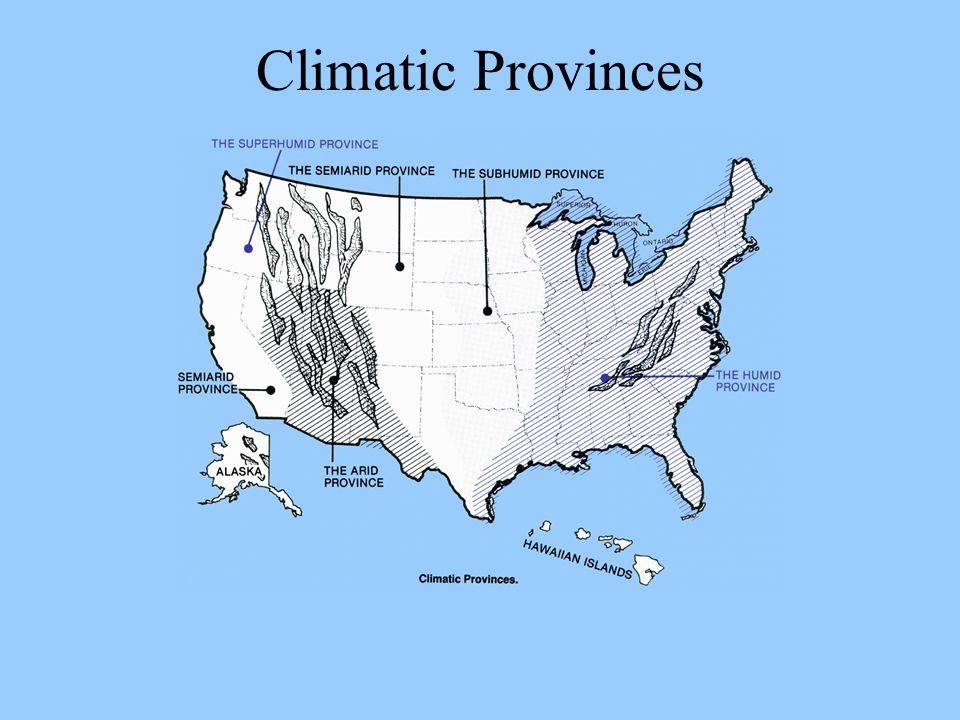 Climatic Provinces