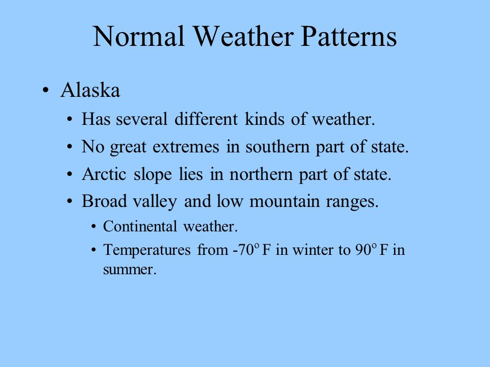 Normal Weather Patterns
