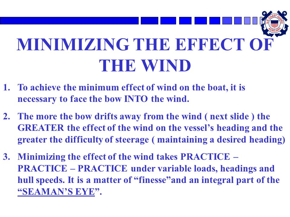 MINIMIZING THE EFFECT OF THE WIND
