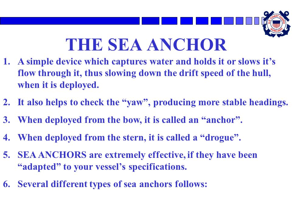 THE SEA ANCHOR
