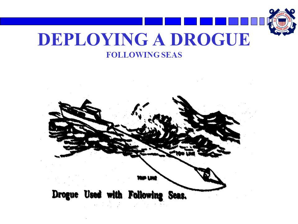 DEPLOYING A DROGUE FOLLOWING SEAS