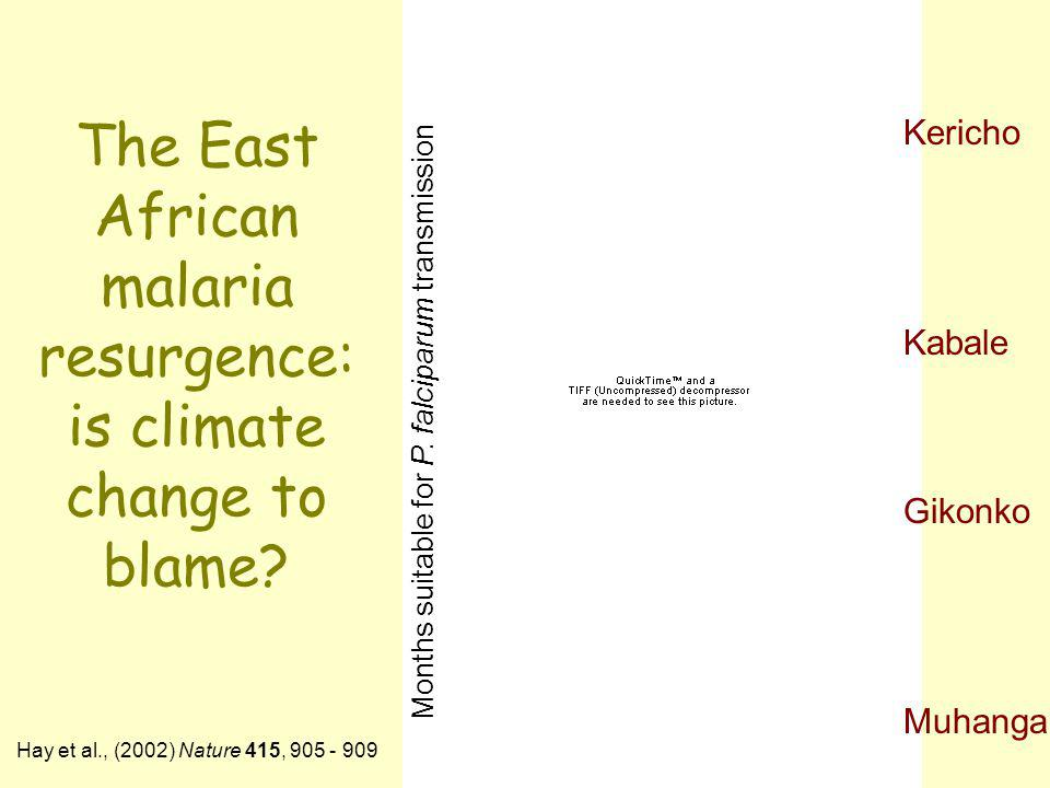 The East African malaria resurgence: is climate change to blame