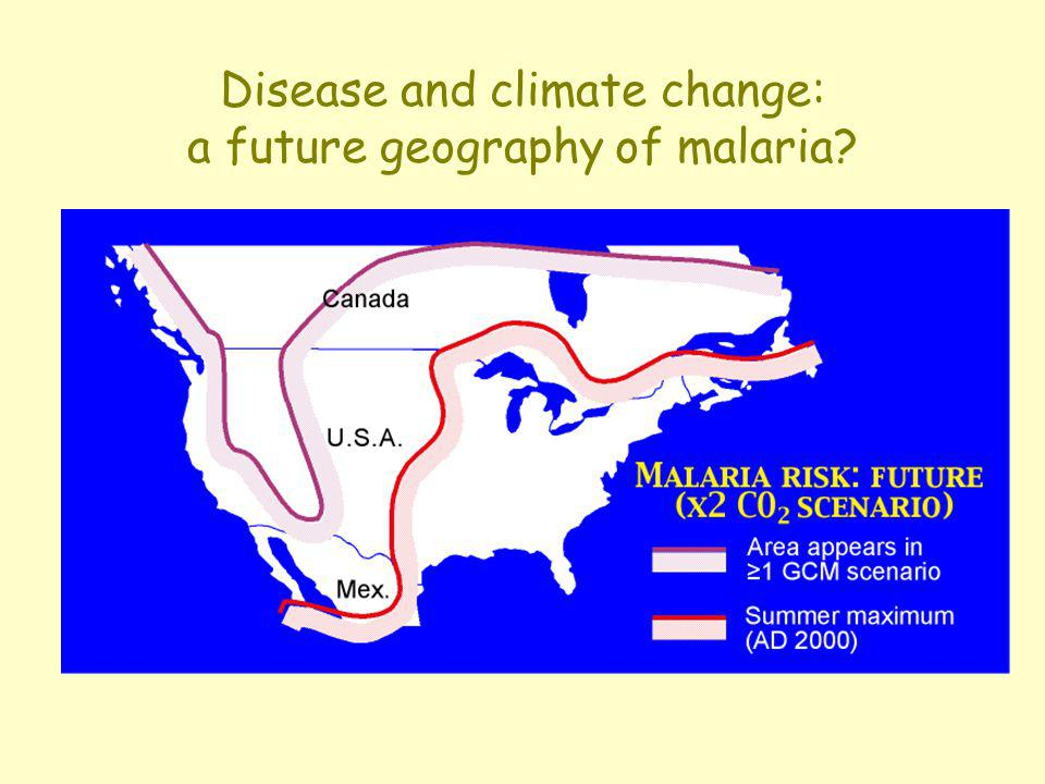 Disease and climate change: a future geography of malaria
