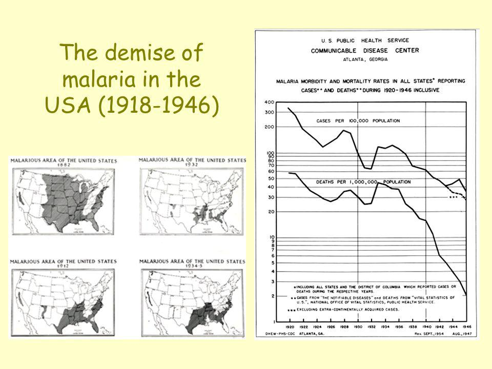 The demise of malaria in the USA (1918-1946)