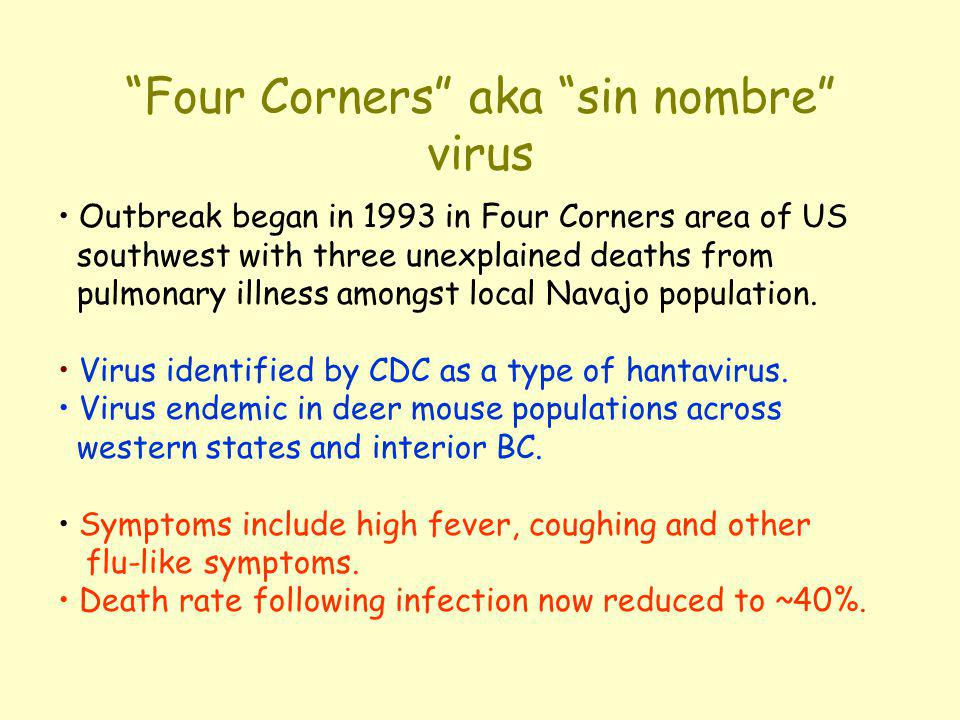 Four Corners aka sin nombre virus