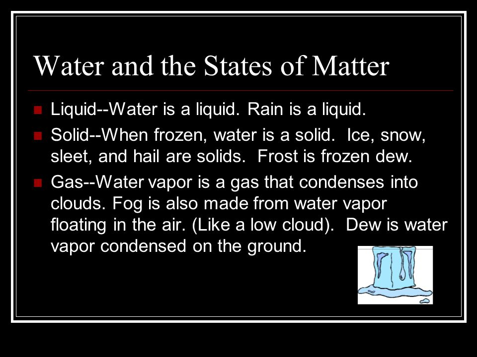 Water and the States of Matter