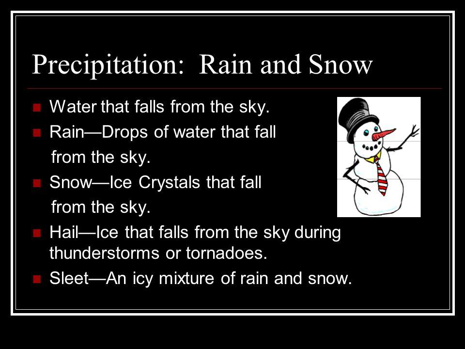 Precipitation: Rain and Snow
