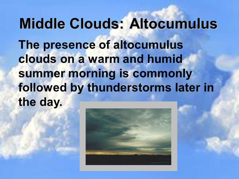 Middle Clouds: Altocumulus