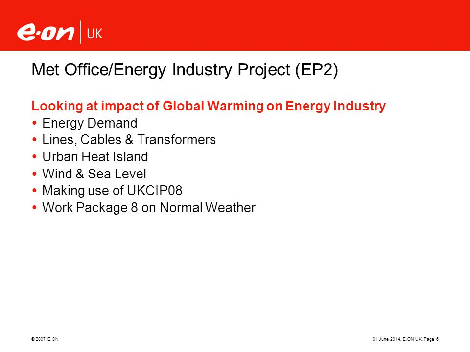 Met Office/Energy Industry Project (EP2)