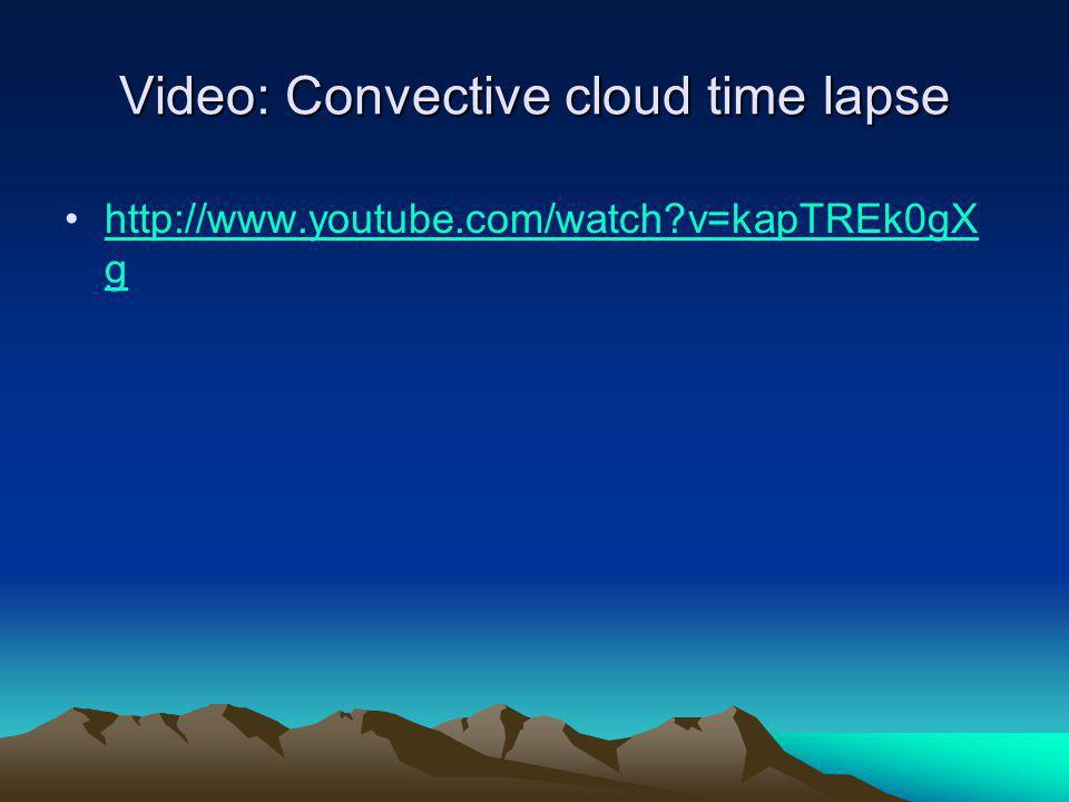 Video: Convective cloud time lapse
